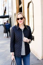 On Investment Pieces - Kelly in the City & Burberry Quilted Navy Jacket Ashurst-100 Adamdwight.com
