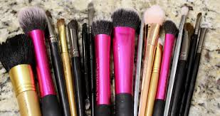 when i clean my brushes i like to use the clinique makeup brush cleanser i feel like it works really well at breaking down the oils in the makeup and helps