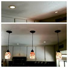 Diy 3 Pendant Lights Kitchen Install Remove Recessed