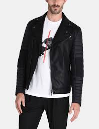 armani exchange quilted nylon moto jacket pu for men a x