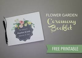 Free Printable Wedding Ceremony Programs Printable Flower Garden Wedding Program The Budget Savvy Bride