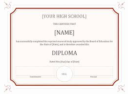 High School Diploma Template Example Free Printable Blank