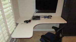 floating wall mounted corner desk diy  youtube