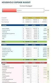 Budget Expenses Template Free Excel Spreadsheet Templates Household Monthly Expenses
