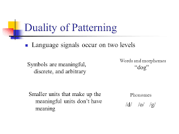 Duality Of Patterning Delectable PSY 48 Psycholinguistics Language And Communication Ppt Download