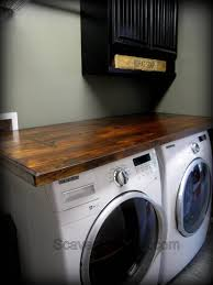 countertop washer dryer. Wonderful Washer How To Make Your Own Laundry Wood Countertop For Countertop Washer Dryer E