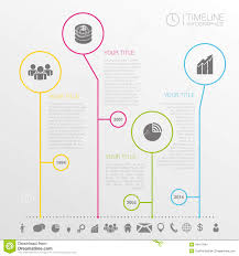 Simple Info Graphics Circle Timeline Infographics Design Template With Icons Stock Vector