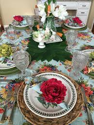 Pier One Tablecloth New Our Easter Table In The Kitchen April Cornell  Floral Tablecloth ...