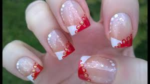 Easy French Nail Designs Chevron Christmas French Manicure Tutorial Diy Easy Nail Art Designs For Holidays