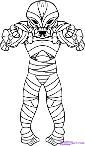 Small Picture How to Draw a Cartoon Mummy Step by Step Halloween Seasonal