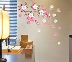 removable wall sticker flowers erfly decal art diy home wall decor yhf 0110 s souq uae