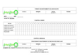 formato cronograma de actividades mensual 6 formato mantenimientos y cronograma