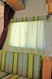 Campervan Design Curtains Prettify Your Camper She Stapled The Fabric Right Over The