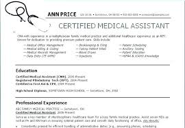 Certified Medical Assistant Resume Cool Sample Resume Cardiology Medical Assistant With Experienced Medical
