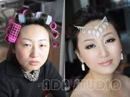 asian s with makeup vs without makeup