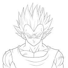 Dragon Ball Z Vegeta Coloring Pages Dragon Ball Z Coloring Sheet