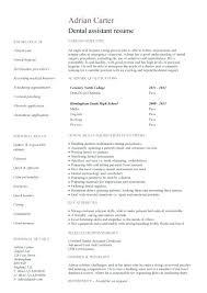 Resume Dental School Resume Sample Dental Assistant Resume Samples