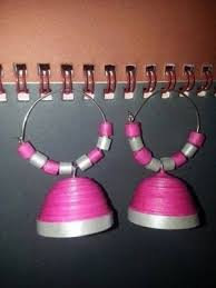 ring earrings ring type paper jhumkha online shopping for  ring type paper jhumkha online shopping for earrings by paper jewellery