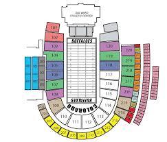 folsom field seating chart  folsom field seating chart