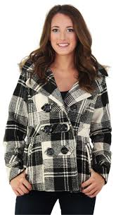 dollhouse heather women s double ted peacoat size m