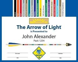 Free Arrow Of Light Personalized Award Certificate Word Template ...