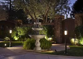 landscaping lighting ideas. Unique Lighting Outdoor Fountain And Landscape Lighting And Landscaping Lighting Ideas