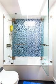 blue shower tile mosaic tile shower with modern mosaic tiles bathroom transitional and blue shower tile