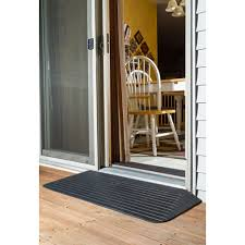 silver spring threshold ramps installed by patio door