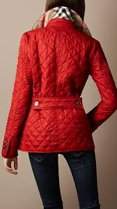 quilted burberry barn jacket (i have a black burberry but think i ... & Pop of Red Burberry Red quilted jacket. Adamdwight.com