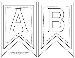 Free Printable <b>Banner Letters</b> A-Z 0-9, TH, ST, RD, ND, Decor Flags ...