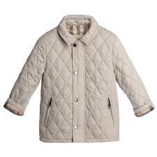 Burberry - Boys Beige Quilted Jacket | Childrensalon &  Adamdwight.com