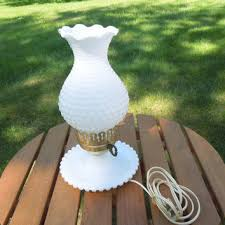 vintage milk glass lamp hobnail milk glass lamp night stand