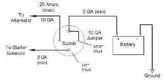 how to install a master disconnect relocation battery switch on to check the wiring turn switch on start the vehicle and turn switch off the vehicle should stop running if not re check your wiring to the diagram