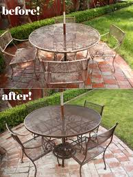 painted metal patio furniture. New Paint Job For Patio Furniture Painted Metal Patio Furniture E