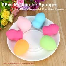 6pcs soft makeup sponge puff face foundation concealer cosmetic powder make up blender blending tools