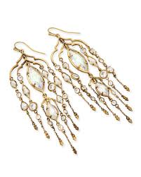 emma shoulder duster earrings in antique brass