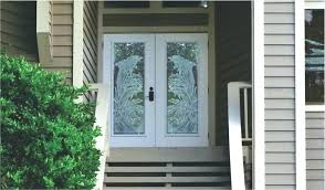 glass front doors view larger image dolphins etched on double panel door metal exterior with steel
