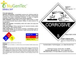 30 Nitric Acid 3 Hf Hydrofluoric Acid Nugentec