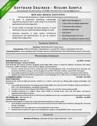 Resume Software Engineering Musiccityspiritsandcocktail Com