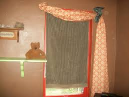 Orange Curtains Living Room Glorious Double Sheer Orange Curtains With Floating Shelf Over