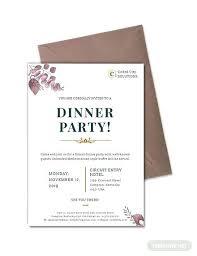 Printable Dinner Invitation Templates Word Free Formal