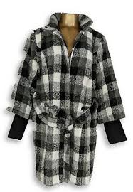 Isaac Mizrahi Live Size Chart Isaac Mizrahi Live Size 12 Plaid Funnel Neck Coat With