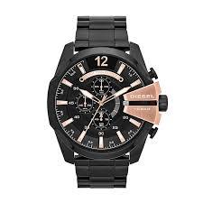 diesel watches h samuel diesel mens mega chief black dial bracelet watch product number 1597663