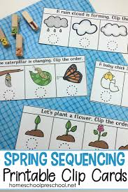 Spring Photo Cards Free Spring Sequencing Cards Printable For Preschoolers