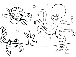 Printable Ocean Coloring Pages Ocean Coloring Book Pages Coloring