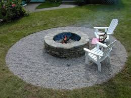 simple space building a patio fire pit round circle