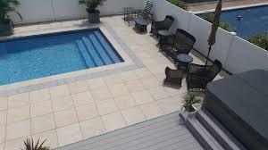 pool deck porcelain pavers