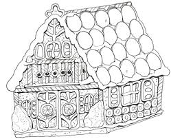 Small Picture Christmas Coloring Sheets Gingerbread House Coloring Pages