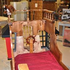 pearl pirate ship bed with trundle by tanglewood design