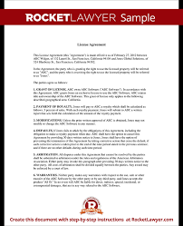 License Agreement Template Rocket Lawyer
